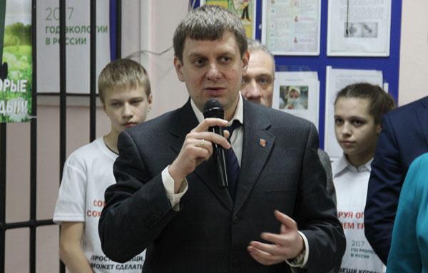 Министр природных ресурсов и экологии Тульской области Юрий Панфилов лично открывает проект фонда в Алексине